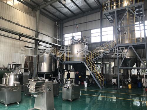 目前国内规模^大(约1000平方)的干燥设备综合实验中心一角