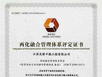 乐动体育APP两化融合证书