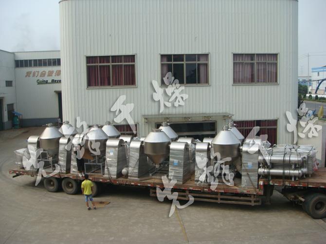 电池材料干燥工程专用双锥回转真空干燥机组